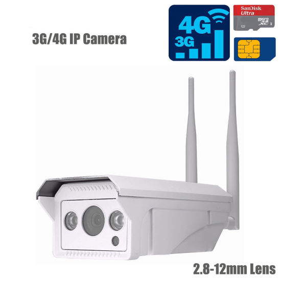 3G/4G IP Outdoor Camera 1080P Resolution Micro SD Card Slot 2.8-12mm Lens