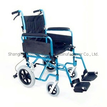 Hot! ! ! Best Selling Aluminum Folding Lightweight Transit Wheelchair