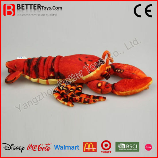 China En71 Realistic Plush Stuffed Animal Soft Toy Lobster For Kids