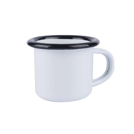 Customized 50ml Metal Enamel Cup with Logo Printing for Camping