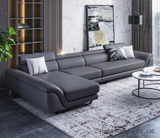 Modern Simple Real Leather Sofa L Shape, L Shape Sofas Leather