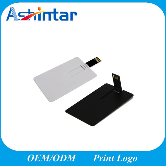 Promotional Gifts USB Stick Flash Memory White Black Credit Card USB Flash Drive