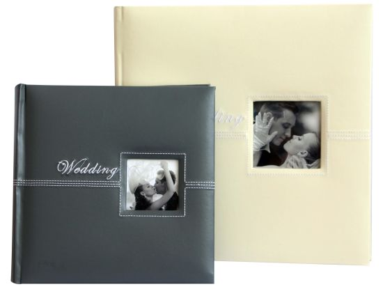 China 300 Photos 4x6 Textured Leather Photo Albums With Frame Window