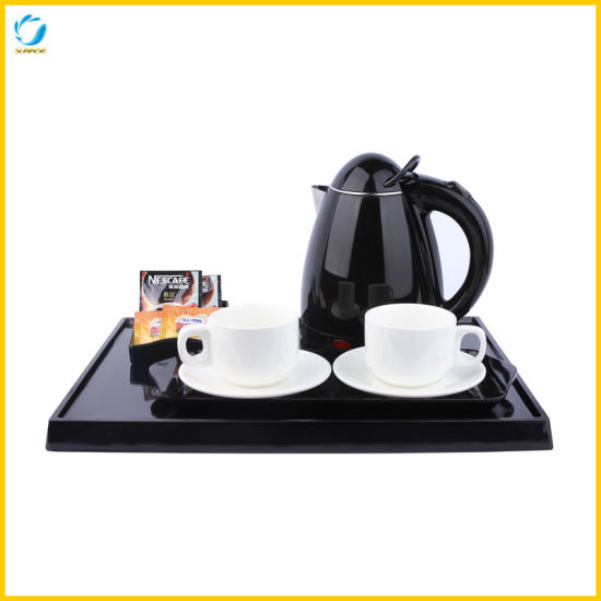 Hotel Black Electric Kettle with 0.8L Capacity pictures & photos