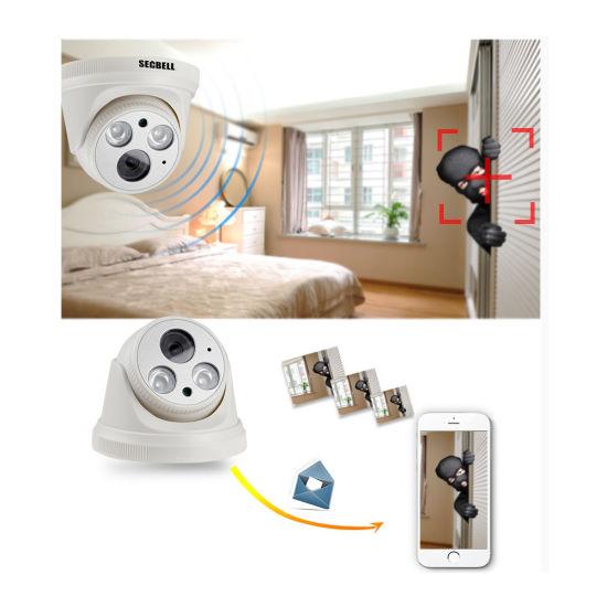 HD 1080P Dome Webcam P2p Onvif Night Vision IP Poe Camera