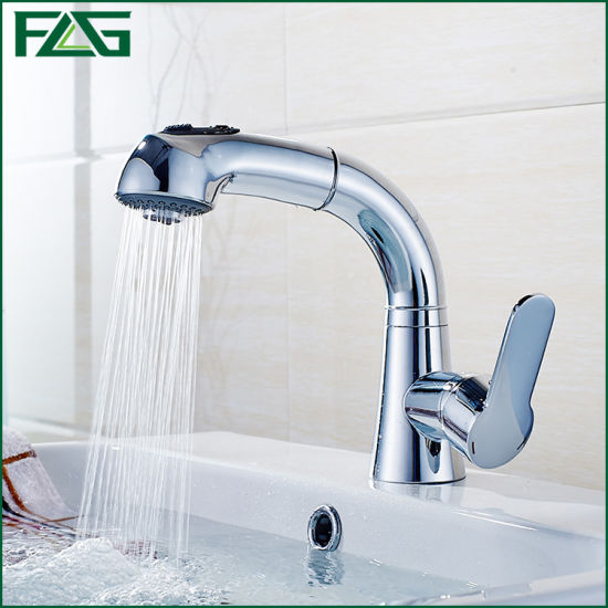 Flg Pull out Chrome Kitchen/Bathroom Waterfall Faucet/Tap
