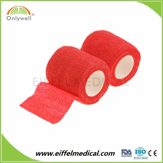 Own Factory Direct Supply Non-Woven Elastic Children Head Wrap Cohesive Bandage