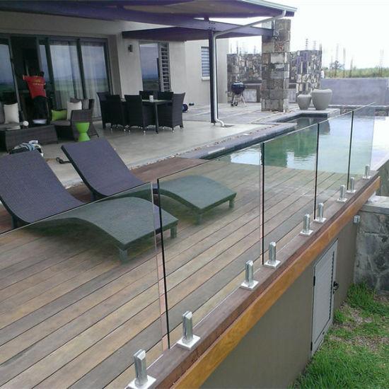 China Frameless Tempered Glass Railing Porch Railing ...