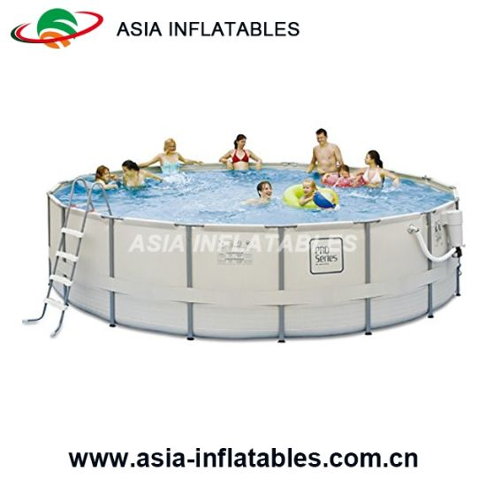 China Durable Above Ground Pool Metal Frame Round Swimming Pool ...
