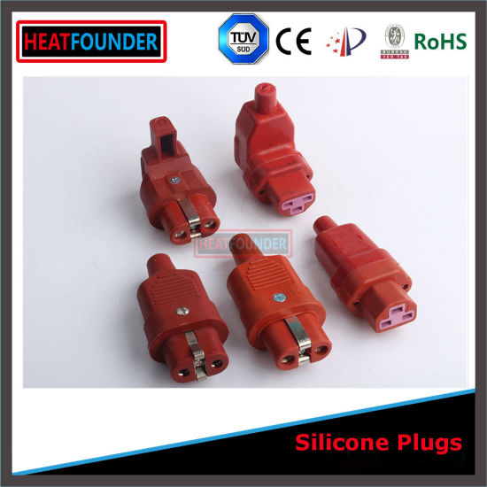 250V Ce and RoHS Approved Silicon Rubber Plug for European Market (GJW-6) pictures & photos