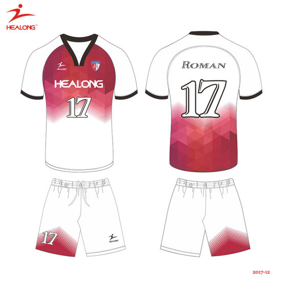 more photos 452d0 ba7a5 Healong Custom Polyester Full Sublimation Youth Football Uniforms Design