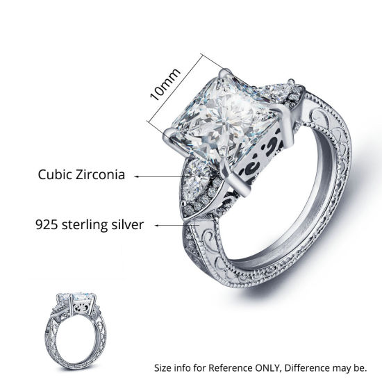 White New Shiny Fashion Women Gift Gold Plated Ring Silver Plated Zircon