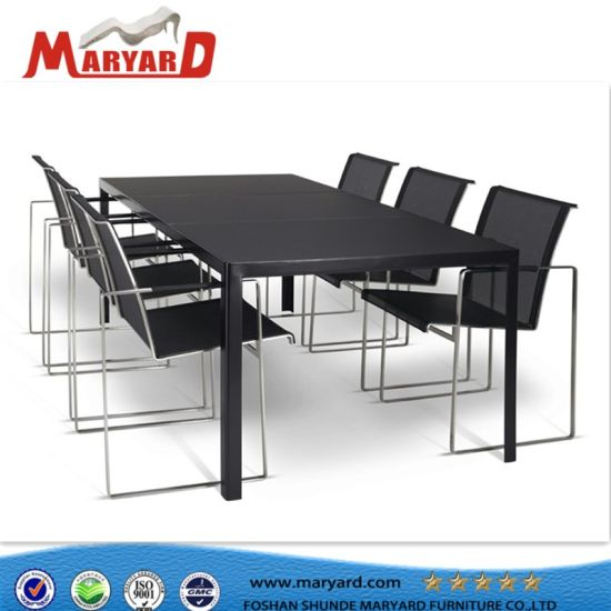Modern Stainless Steel Dining Chair And Outdoor Stainless Steel Dining  Table Set Furniture