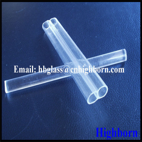 Double Hole Quartz Glass Tubing pictures & photos