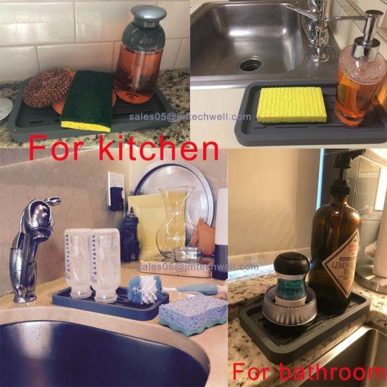 Kitchen Sink Organizer Sink Caddy Silicone Sink Sponge Holder