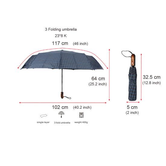 b1d632016 Big 3 Fold Umbrella with Stripes Canopy for Man Advertising Umbrella  Promotion Umbrella Gift Umbrella pictures