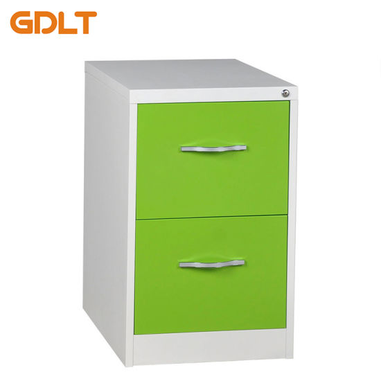 The Outer Clasp Hands 2 Drawers Metal Filing Cabinet