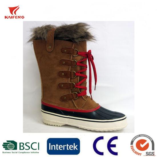 Men's Winter Rubber Duck Boots Warm Snow Boots Fashion Rain Boots