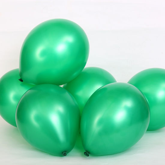 12 Inch Pearl Latex Balloons Green Colour For Party Balloon Foil