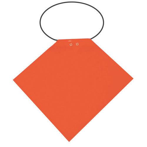 HI-VIS ORANGE PVC Boat//Marine//Trailer//Long Load PROPELLOR SAFETY SIGNAL FLAG