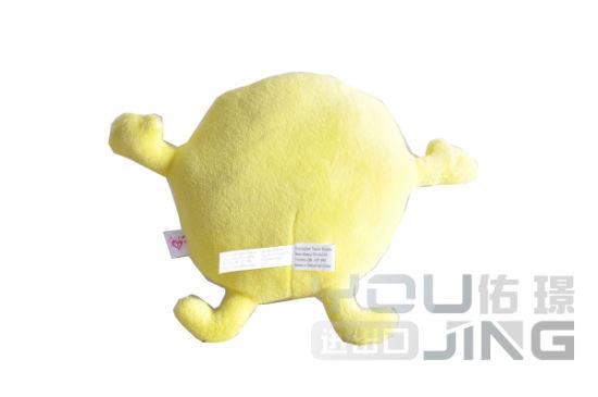 China Emoji Yellow Plush Cushion Love Heart Eye Pink Pillow Toy