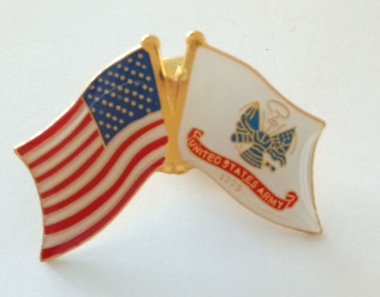 Die Struck Soft Enamel Iron Lapel Pin USA Flag/United States Army Flag pictures & photos