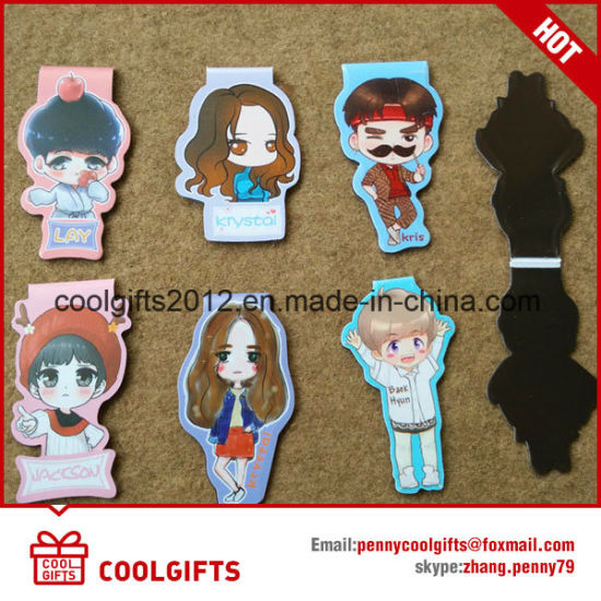 Custom Promotional Bookmark Magnet, Folding Bookmark Magnetic pictures & photos