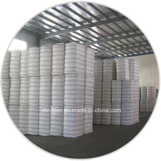 Cotton-like 1.4D*38mm Super White Recycled Polyester Staple Fiber pictures & photos