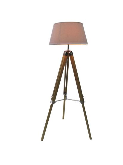 """Bamboo Natural Color Large Tripod Floor Lamp with White Linon Furniture/Lighting/LED Lighting /Lamp/Decoration/ LED/Bulb/Tripod/ pictures & photos"