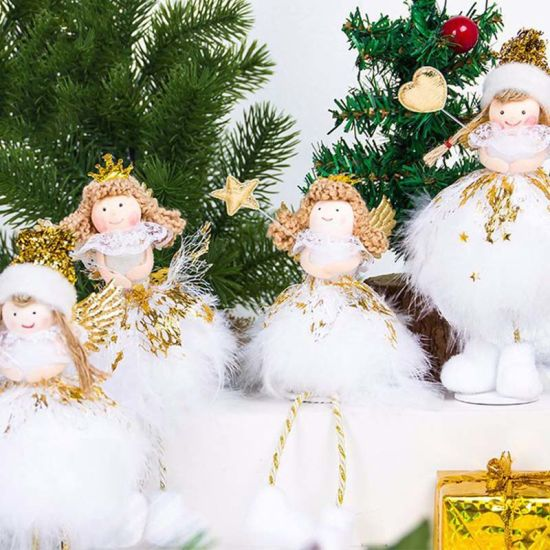 cute christmas home decor table decoration ornament angel toy doll