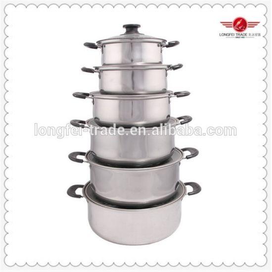 Stainless Steel Hotel Restaurant Camping Cookware Pot Set