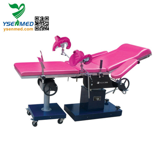 Ysot-2A Gynaecology Table Manual Obstetric Table Obstetric Delivery Bed pictures & photos