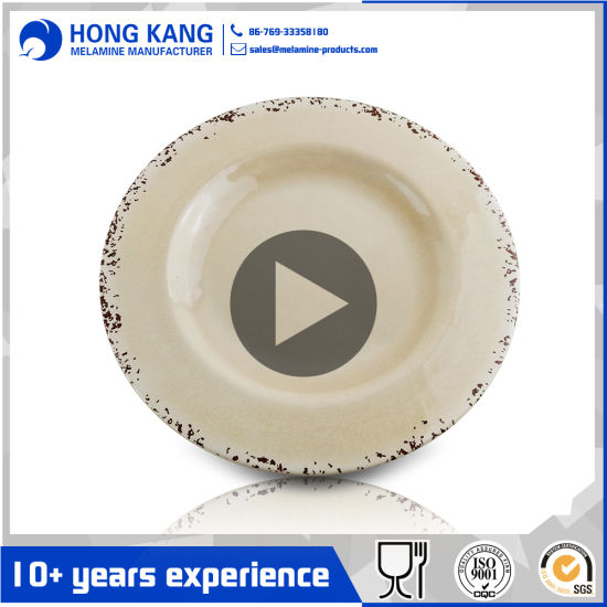 China Wholesale Round Dinner Rustic Melamine Lunch Plate - China ...