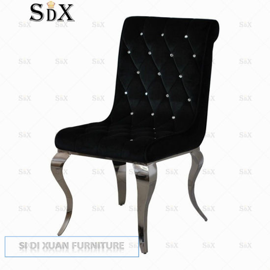 Modern Simple Stainless Steel Dining Chair for Hotel Restaurant Furniture