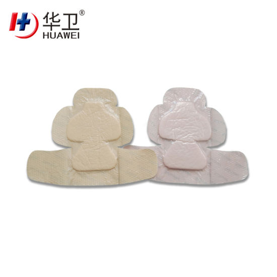 Top Quality Silicone Foam Wound Dressing Thin Border Different Shape OEM Exudative Wounds Treatment
