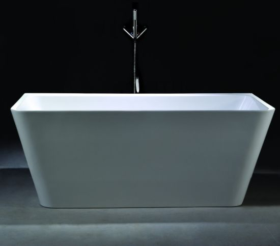 Square Shape Soaking Bath Tub Acrylic Bathtub for Bathroom Shower