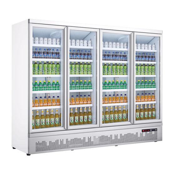 Attractive Looking Commercial Fridge Freezer Vertical Display Freezer