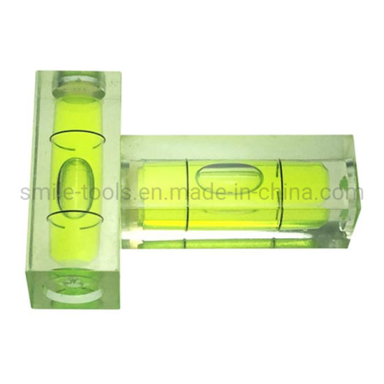 High Accuracy Bubble Level Vial Square Spirit Level Vial