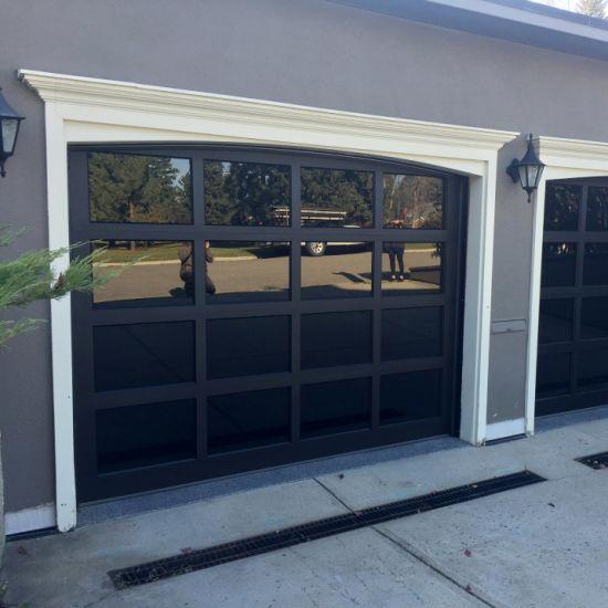 16X7 Tempered Glass Mirrored Aluminum Glass Garage Door