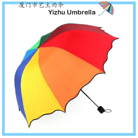 5 Fold Umbrella Magic Compact Umbrella Triple Folding Anti-UV Dome Parasol Purple (YZ-2048)
