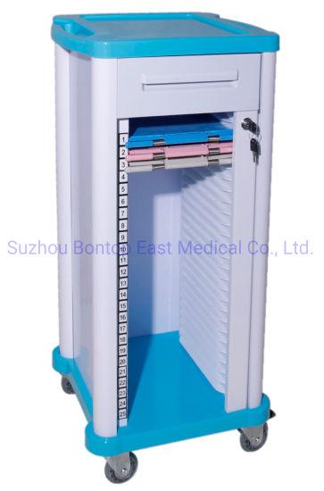 Manufacturer OEM ODM ABS Hospital Nurse Movable Patient File Case History Medical Records Trolley/Cart