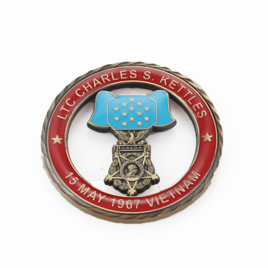 Promotional Gift Custom Design China Wholesale Souvenir Navy Military Metal Gold Plated Challenge Coin