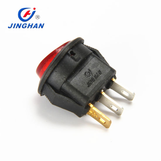 DC 12V Car DOT Auto Boat Round Rocker Red LED Light Switch on-off