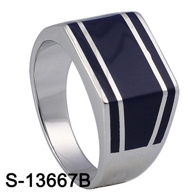 Wholesale Fashion Jewelry 925 Sterling Silver Enamel/Resin Ring for Man pictures & photos