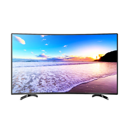 """65"""" Factory Price Metal Cabinet Smart UHD 4K LCD Curved LED Screen TV"""