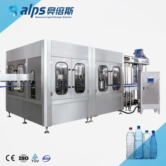 Pure Mineral Drinking Water Sparkling Soda Flavored Water Energy Soft Drink Beverage Juice Liquid Making Bottling Filling Packing Machine for Bottle or Can