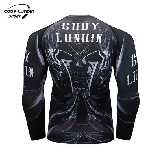 Wholesale New Design Clothes Polyester Spandex Sublimation Jiu Jitsu T-Shirt