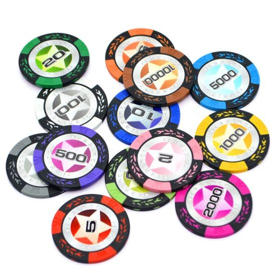 14G Casino Wheat Poker Texas Hold'em Sets Chips Black Jack Poker Metel/Iron Coins Clay Poker Chips