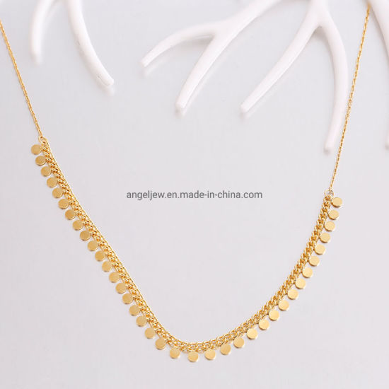 Factory Wholesale Fashion Jewelry 925 Sterling Silver Necklace Lady Jewellry Elegant Handcraft Design