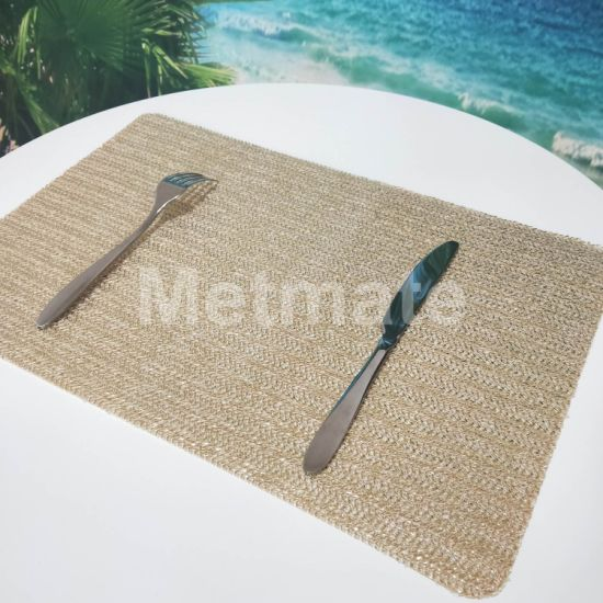 Eco Friendly Pp Raffia Activity Outdoor Square Placemats On Round Table China Square Placemats On Round Table And Outdoor Placemats For Round Table Price Made In China Com